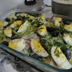 Bacalhau saindo do forno