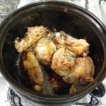 Fritando o frango