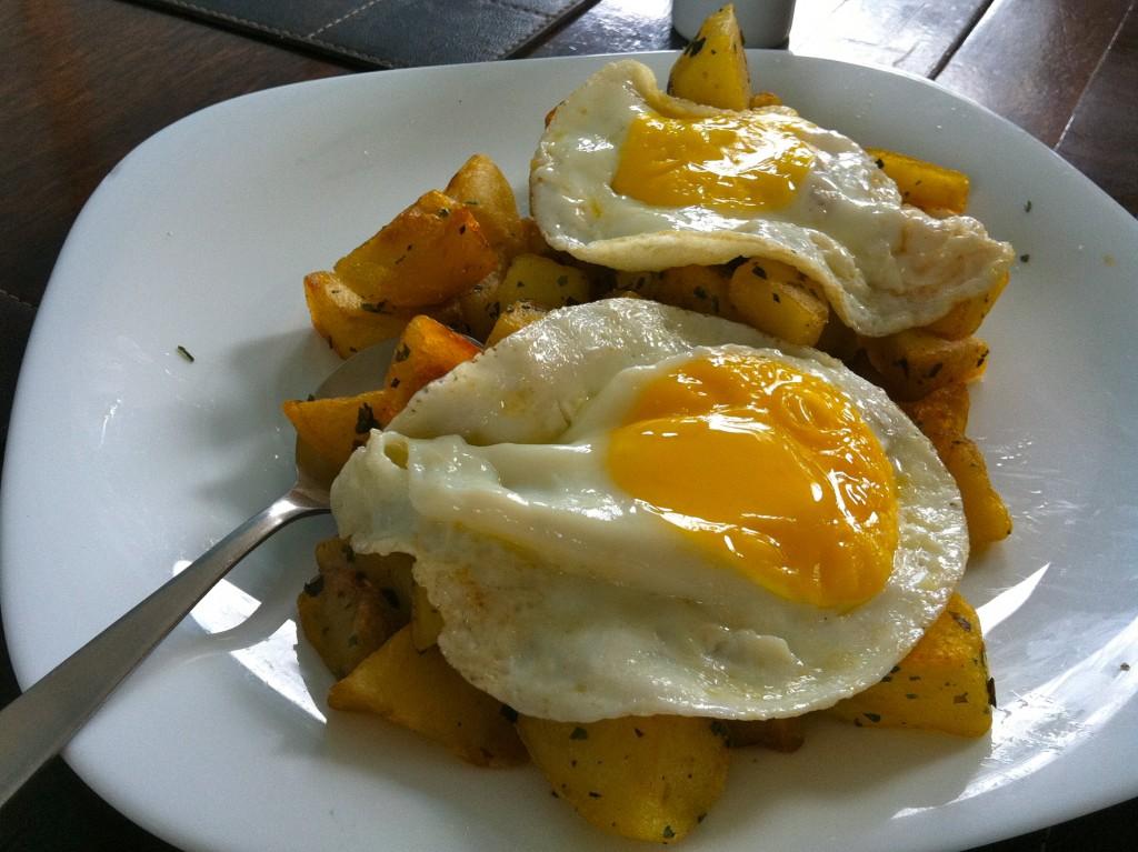 Batata com ovos
