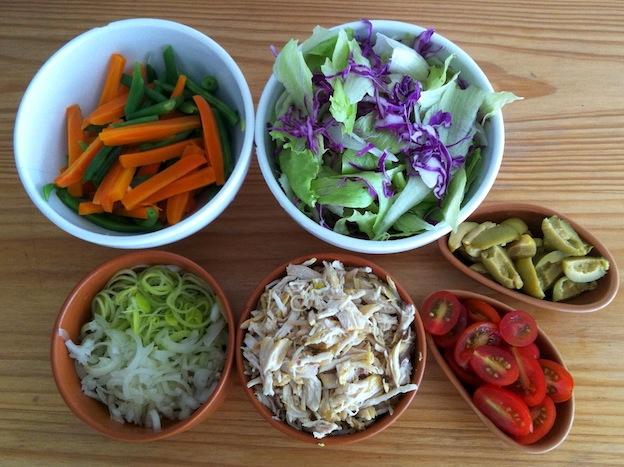 Salada de Macarrão - Ingredientes