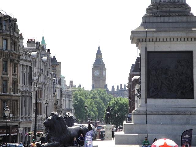 Vista da Trafalgar Square