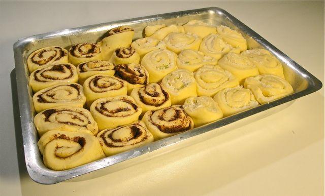Cinnamon rolls roscas recheadas crescidas