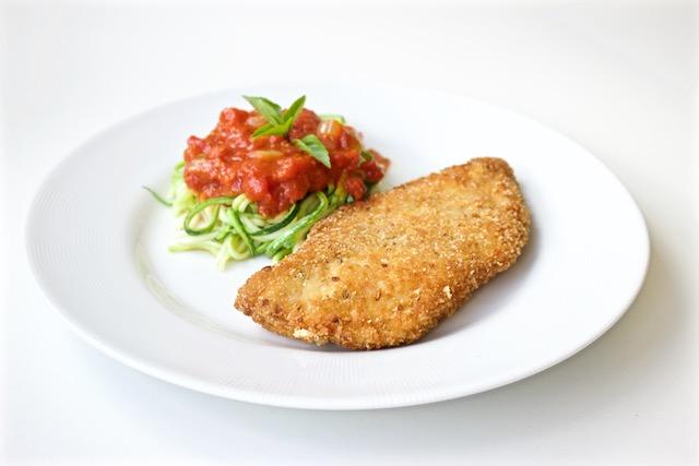 Peito de frango empanado – crocante e sequinho