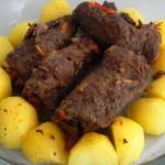 Bife Rolê com Batatas