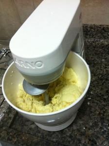 Pão de queijo na batedeira