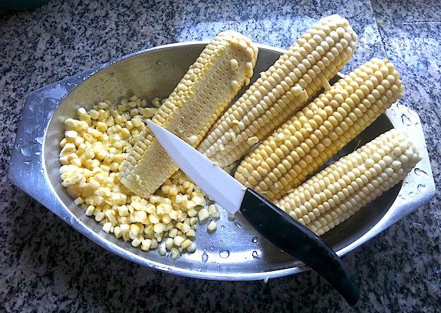 Preparando o milho