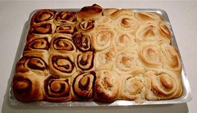 Cinnamon rolls roscas recheadas assadas