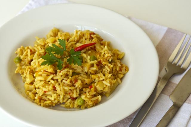 arroz com bacalhau